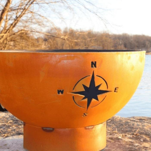 "Focused Image of the Navigator 36"" Steel Fire Pit by Fire Pit Art"