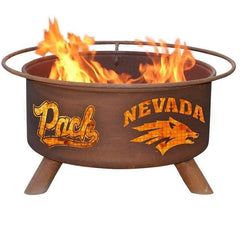 Nevada F464 Steel Fire Pit by Patina Products with white background.