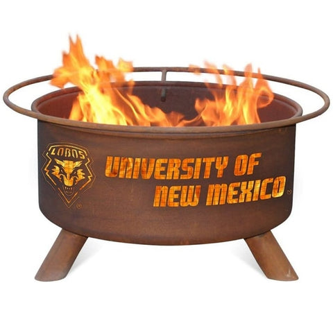 New Mexico F435 Steel Fire Pit by Patina Products with white background.