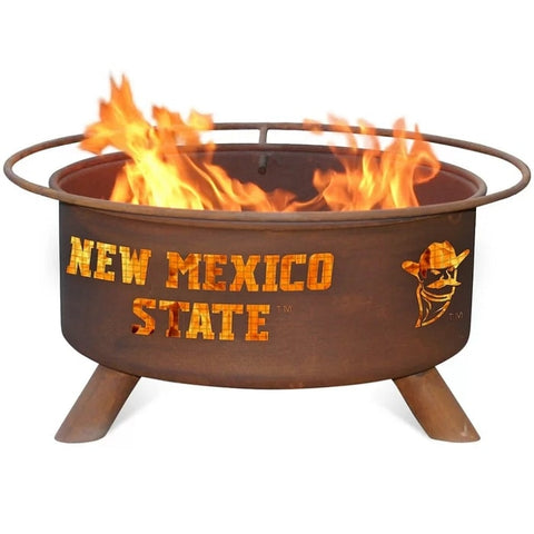 New Mexico State F426 Steel Fire Pit by Patina Products with white background.