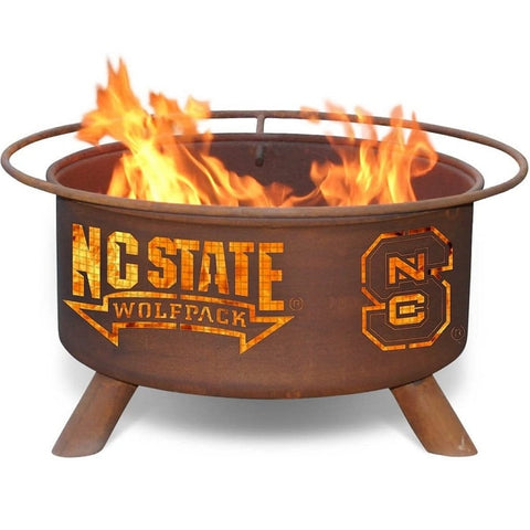 North Carolina State F237 Steel Fire Pit by Patina Products with white background.