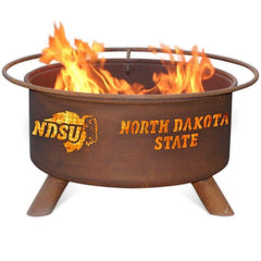 North Dakota State F460 Steel Fire Pit by Patina Products with white background.
