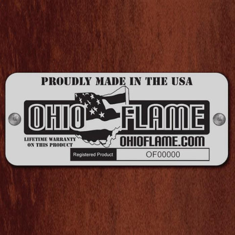 "Ohio Flame Fire Globe ""Peace, Happiness, Tranquility"" Logo"