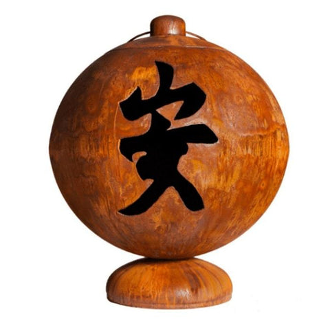 "Ohio Flame Fire Globe ""Peace, Happiness, Tranquility"" in Chinese Character"