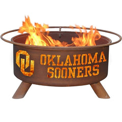 Oklahoma F218 Steel Fire Pit by Patina Products with white background.