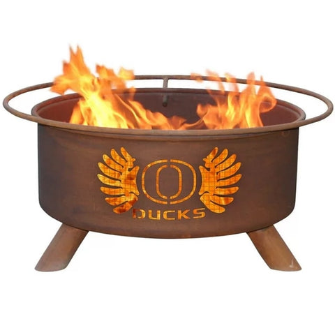 Oregon F245 Steel Fire Pit by Patina Products with white background.