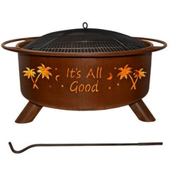 Patina Products It's All Good F119 Fire Pit with white background.