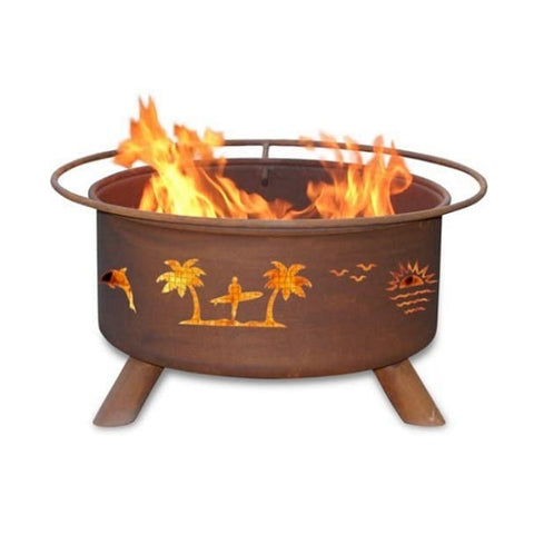 Patina Products Pacific Coast F117 Fire Pit with white background.