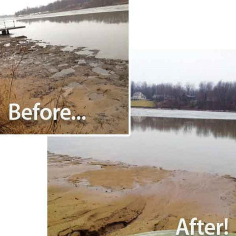 Pond Logic MuckAway TL Water Treatment Before and After Image