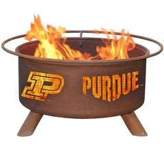 Purdue F229 Steel Fire Pit by Patina Products with white background.