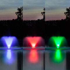 Blue, Red, and Green fountain lights