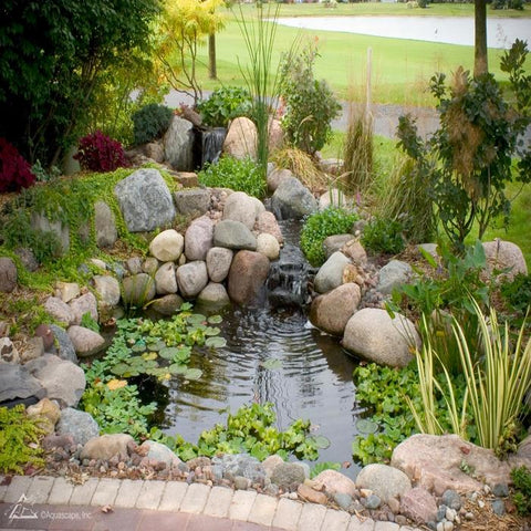 Aquascape DIY Backyard Pond Kit - 8x11 [99765] With a Small Pond