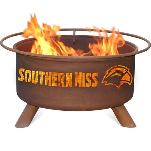 Southern Mississippi F238 Steel Fire Pit by Patina Products with white background.