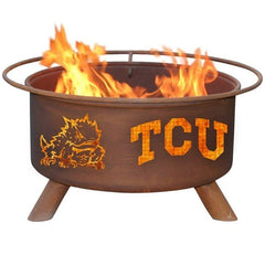 TCU F428 Steel Fire Pit by Patina Products with white background.