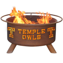 Temple F473 Steel Fire Pit by Patina Products with white background.