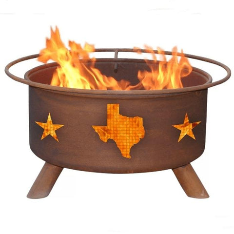 Texas State & Stars Steel Fire Pit by Patina Products