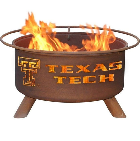 Texas Tech F233 Steel Fire Pit by Patina Products with white background.