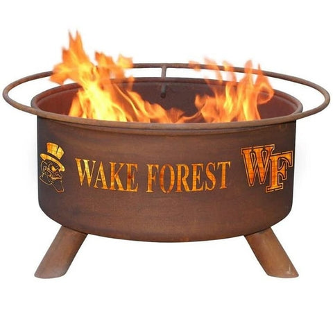 Wake Forest F477 Steel Fire Pit by Patina Products with white background.