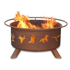 Western Cowboy Steel Fire Pit by Patina Products