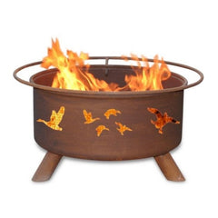 Wild Ducks Steel Fire Pit by Patina Products