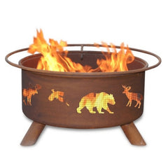 Wildlife Steel Fire Pit by Patina Products