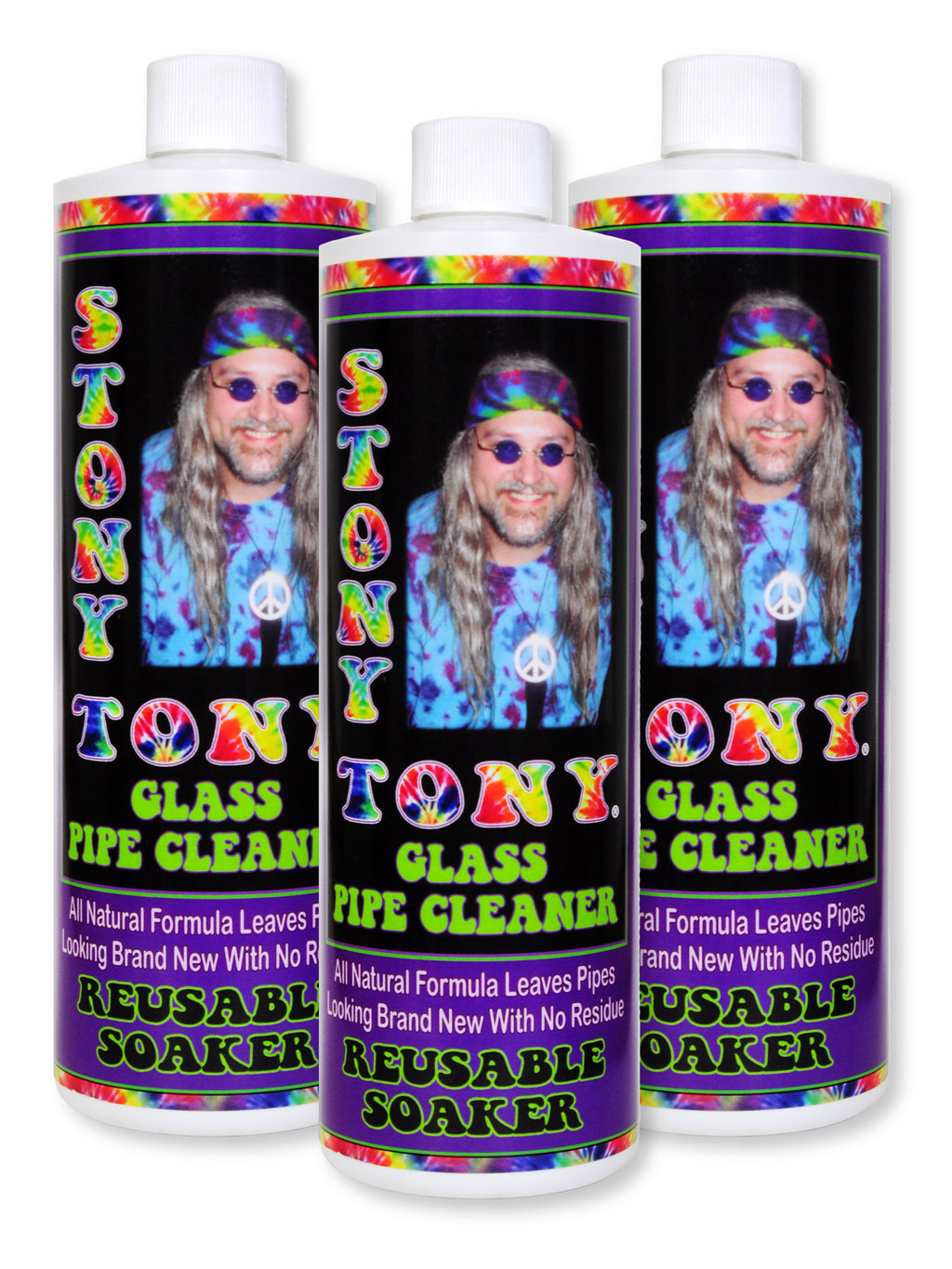 Stony Tony Glass Pipe Cleaner (3) 16oz