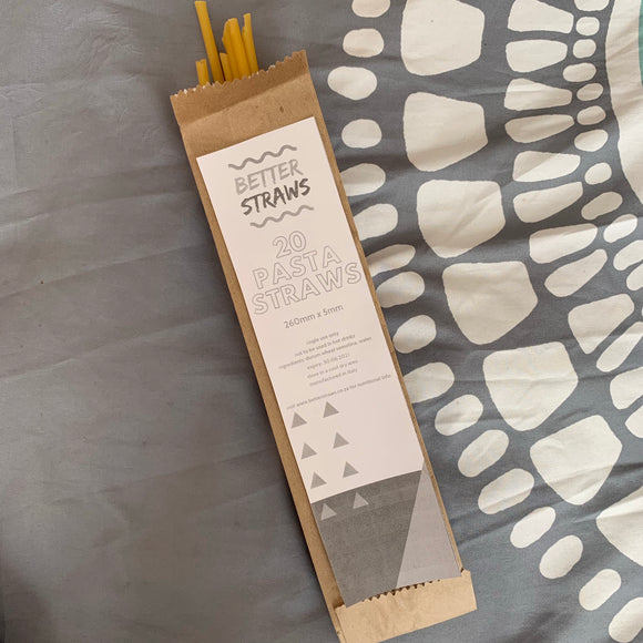 Pasta Straws 5mm (20 straws) - better-straws