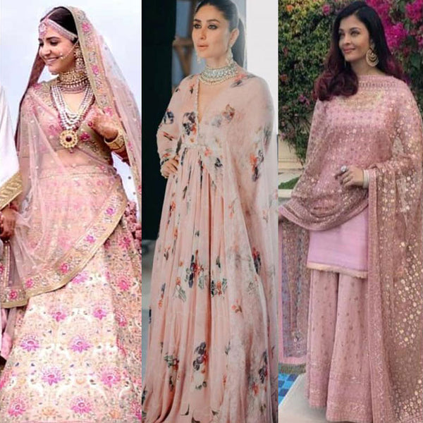 Indian Dress Ideas in Peach Colour
