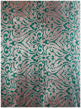 Load image into Gallery viewer, buy blouse fabric online buy fabric online wholesale india Jacquard Soft Polyester Silk Bottle Green, Gold 43 inches Wide 8012