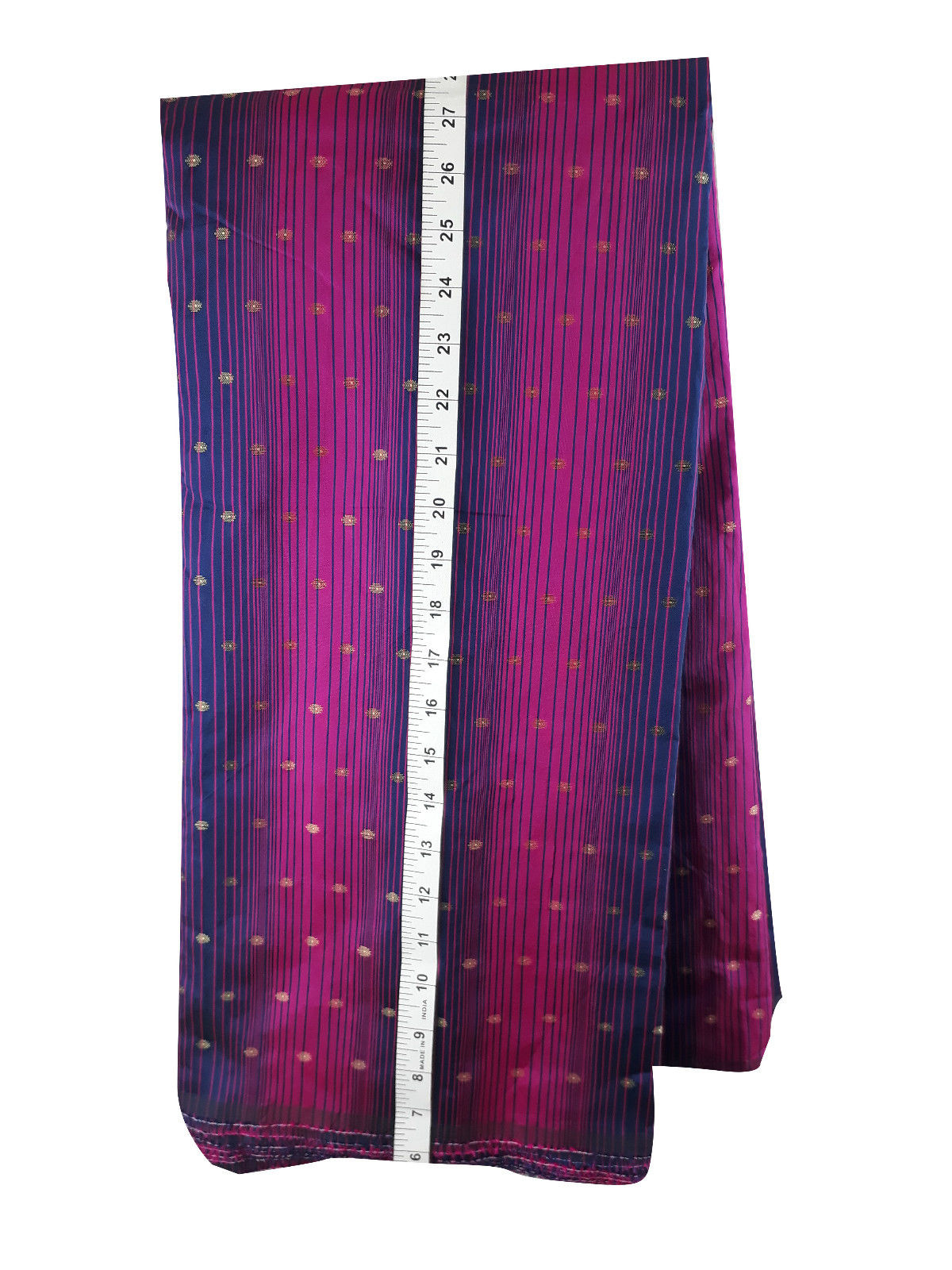 fabric sale online india blouse fabric online shopping Embroidered Polyester Magenta, Purple, Gold 46 inches Wide 1678
