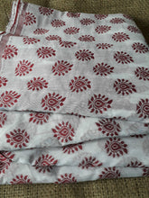 गैलरी व्यूवर में इमेज लोड करें, embroidery items online buy lace fabric online india Embroidered, Jaquard Cotton Off White, Maroon 49 inches Wide 1792