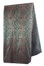 Load image into Gallery viewer, buy embroidered fabric online buy fabric online wholesale india Jacquard Soft Polyester Silk Bottle Green, Gold 43 inches Wide 8012