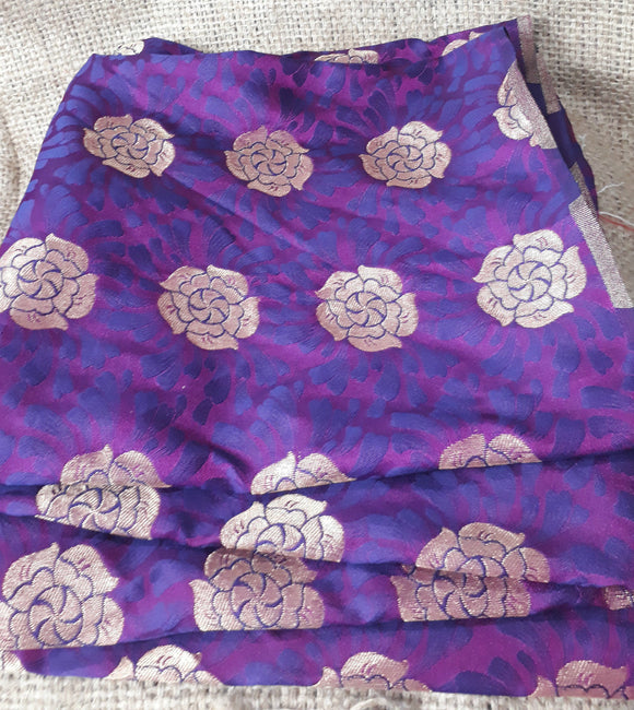 fabric shop online india buy saree blouse material online Embroidered Silk Purple 49 inches Wide 1799