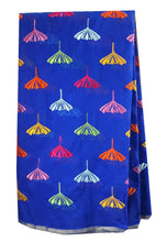Load image into Gallery viewer, dress fabric online india buy embroidered fabric Chanderi Cotton Royal Blue 43 inches Wide Blue