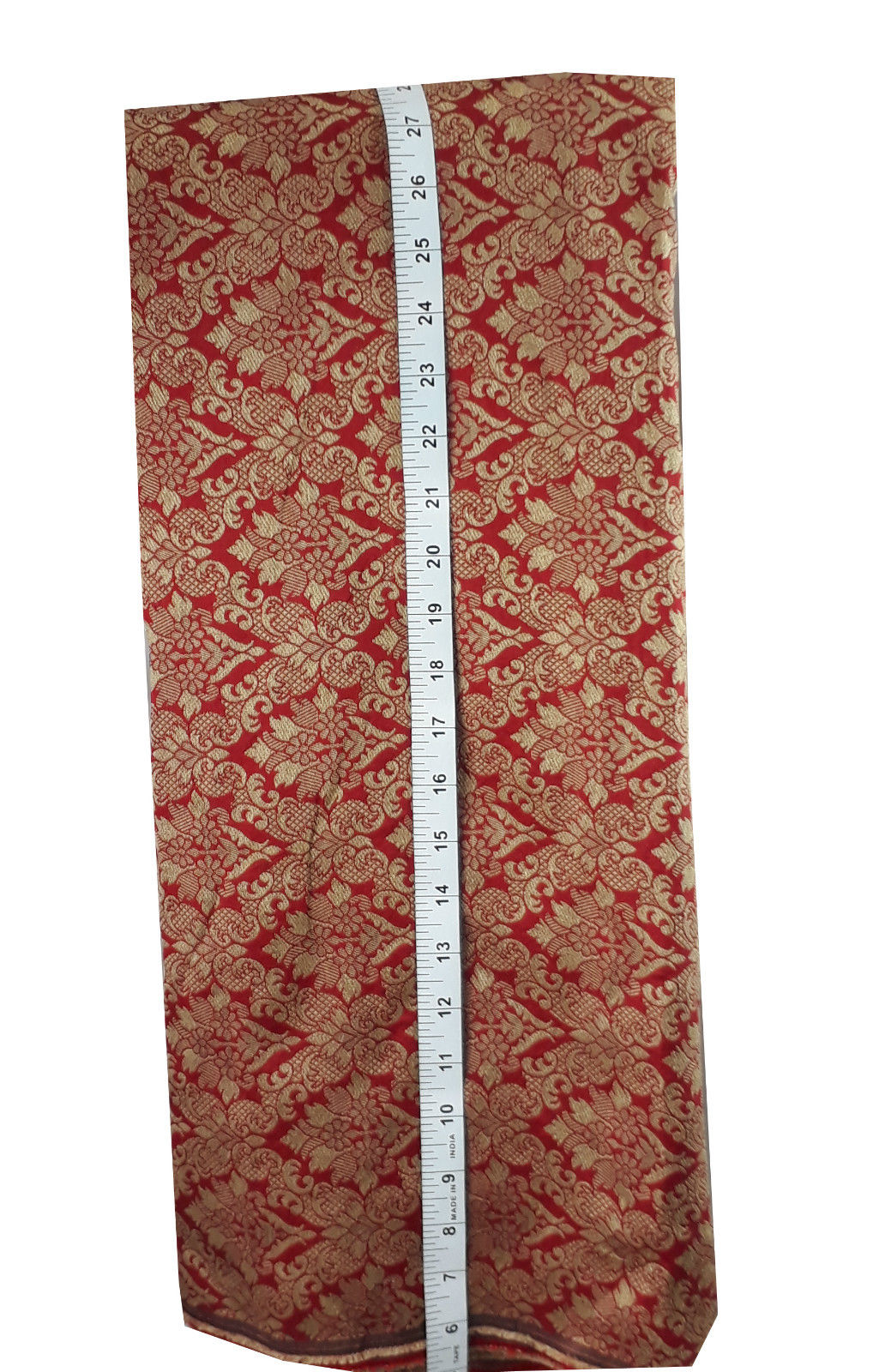 online wholesale fabric store india online wholesale fabric store india Embroidery Faux Silk Brick Red 43 inches Wide 8017