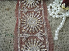 Load image into Gallery viewer, sewing trims and embellishments beaded bridal lace fabric Bronze Bronze Sequins Shinny Sturdy Fabric Less than 3 inch