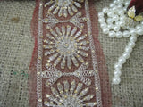 sewing trims and embellishments beaded bridal lace fabric Bronze Bronze Sequins Shinny Sturdy Fabric Less than 3 inch