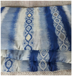 online fabric shopping buy material online Embroidery Cotton Navy Blue, Light Grey, Bluish Grey 51 inches Wide 1739