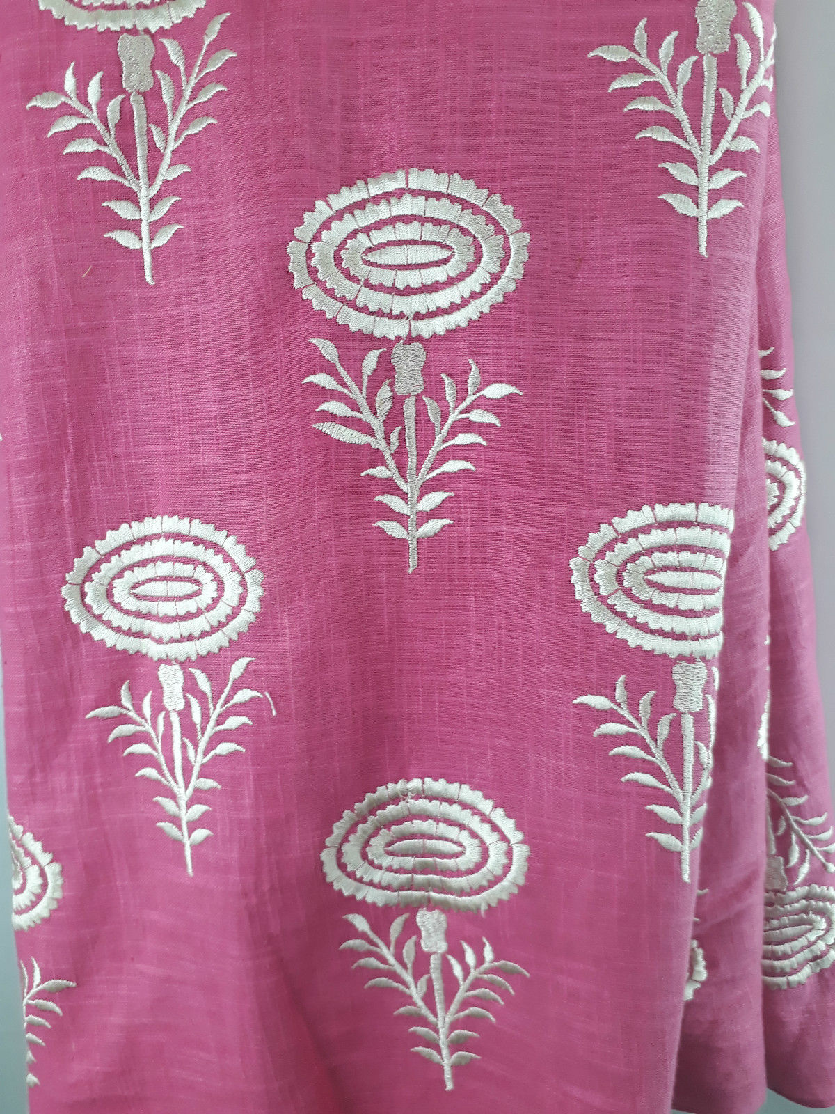 embroidery material online shopping indian fabric store Embroidered, Jaquard Cotton Off White, Yellow 45 inches Wide 1775