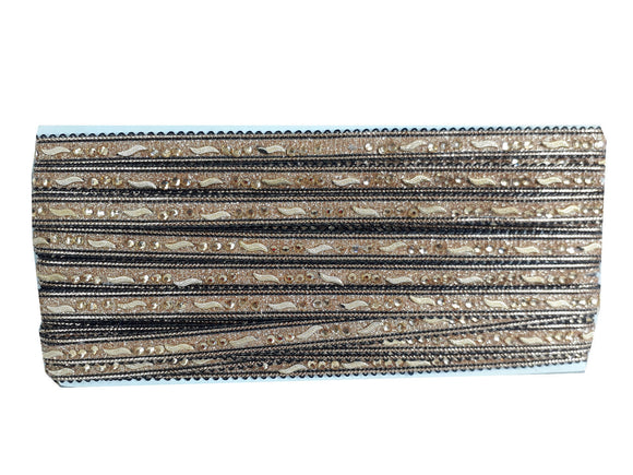 decorative fabric trim lace applique trim Black Gold Pasting Polyester Less than a inch