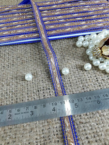 decorative trim for clothing lace appliques for wedding dresses Blue Gold Pasting Polyester Less than a inch