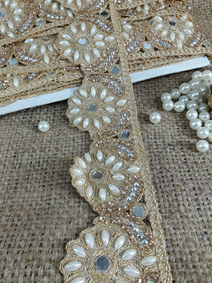 where to buy fringe for clothing fabric trim with holes Gold Gold Embroidered, Pearl, Stone, Real Mirror POlyester Less than 3 inch