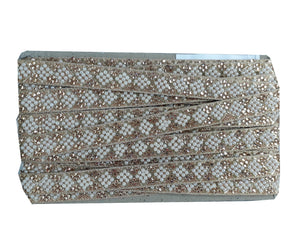 wholesale trim suppliers fancy borders for sarees Gold Copper Embroidered, Stone, Pearl POlyester Less than a inch