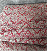 Load image into Gallery viewer, saree work materials online wholesale fabric store india Embroidery Faux Silk Brick Red 43 inches Wide 8017