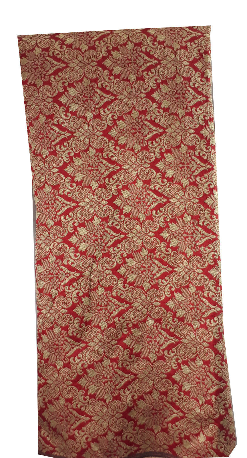 lace fabric online india online wholesale fabric store india Embroidery Faux Silk Brick Red 43 inches Wide 8017