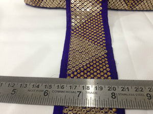 wedding lace trim by the yard black applique trim Gold Gold Embroidery with Sequins Shinny Sturdy Fabric Less than 3 inch