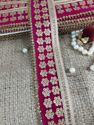 fabric ribbon trim lace appliques michaels Maroon Gold, Maroon Embroidery, Stone, Sequins Velvet Less than 3 inch