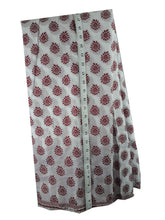 गैलरी व्यूवर में इमेज लोड करें, embroidery fabric online india buy lace fabric online india Embroidered, Jaquard Cotton Off White, Maroon 49 inches Wide 1792