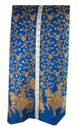 cloth material online shopping india embroidery laces online Paper Silk Cobalt Blue 44 inches Wide 8001