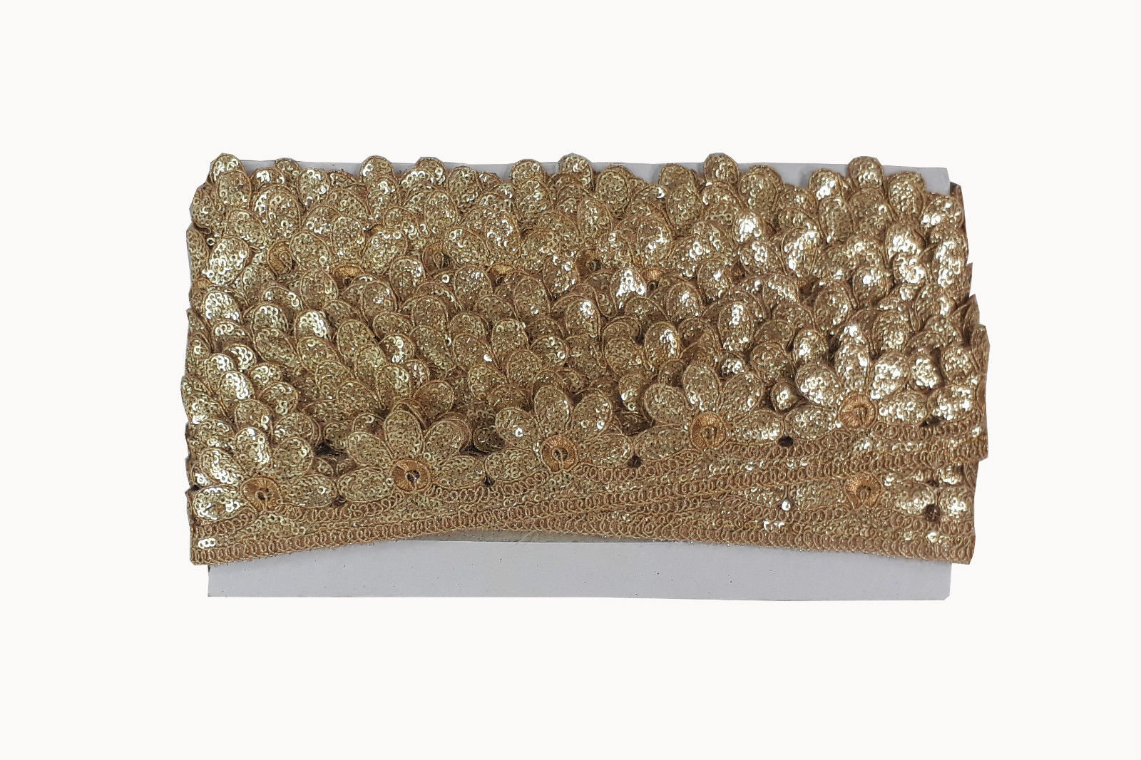 fabric trim wholesale decorative lace trim Gold Gold Embroidery n Sequins Polyester Less than 2 inch
